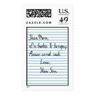 Envíe el dinero timbres postales