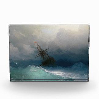 Envíe en tormenta tempestuosa del paisaje marino