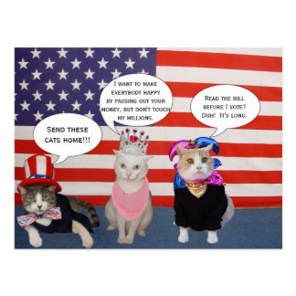 ¡Envíe éstos los gatos a casa Postales