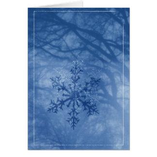 Envíe la chispa de un copo de nieve del invierno tarjeta