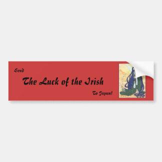 Envíe la suerte del irlandés pegatina para auto