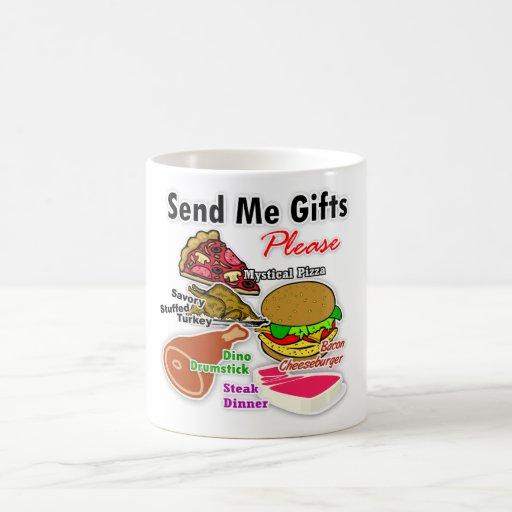 """""""Envíeme taza de los regalos"""""""