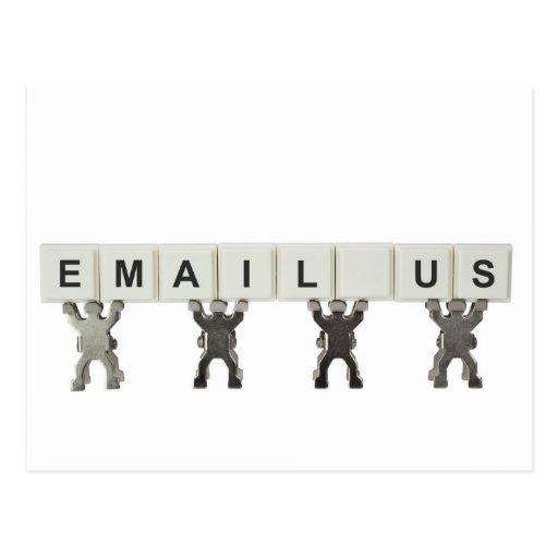 Envíenos por correo electrónico tarjeta postal