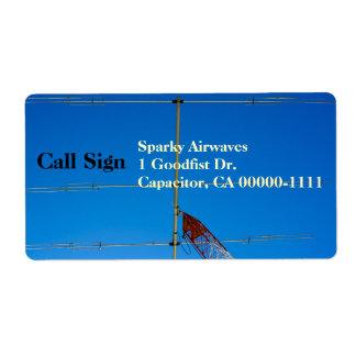 Envío aficionado de la antena de haz de radio etiquetas de envío