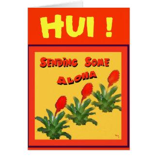 ENVÍO de ALGUNA tarjeta de la HAWAIANA