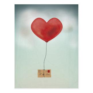 Envío de su amor tarjetas postales