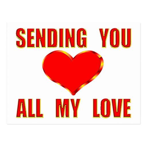 Envío de todo mi amor tarjeta postal