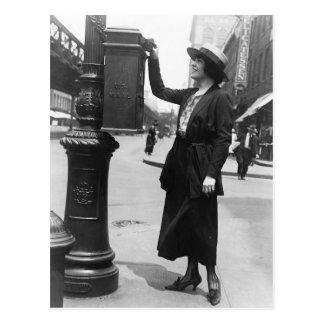 Envío de una letra en New York City Postales