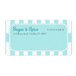Envío en colores pastel azul del Patisserie Etiquetas De Envío