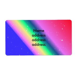 Envío en colores pastel del arco iris etiquetas de envío