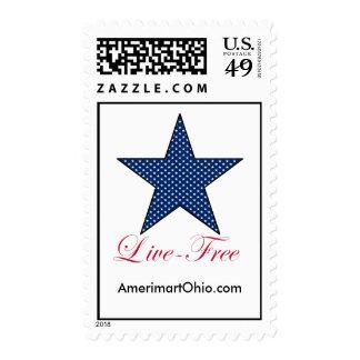 Envío postal gratis vivo sello