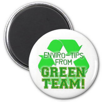 ENVIOR TIPS FROM GREEN TEAM 2 INCH ROUND MAGNET