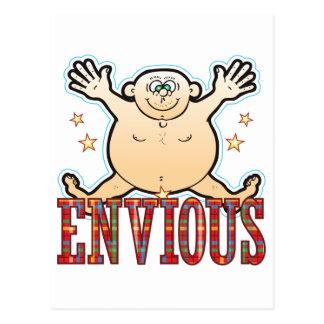 Envious Fat Man Postcard