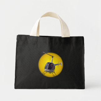 Enviro-Friendly Helicopter Gifts Tote Bags
