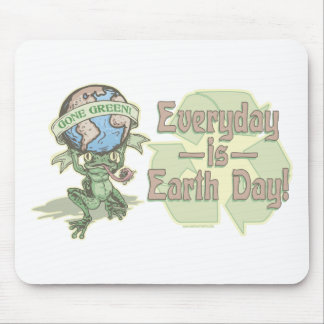 Enviro Frog Gone Green Earthday Gear Mouse Pad