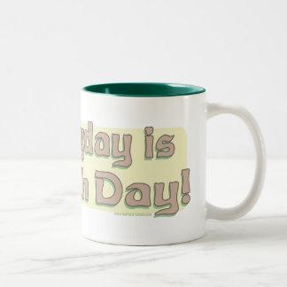 Enviro Frog Gone Green Earthday Gear Two-Tone Coffee Mug