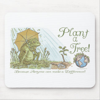 Enviro Frog Plant a Tree  Earth Day Gear Mouse Pad