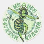Enviro Green Bee Earth Day Gear Classic Round Sticker