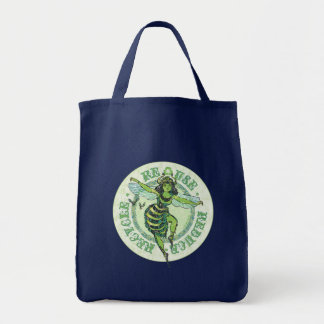 Enviro Green Bee Earth Day Gear Tote Bag
