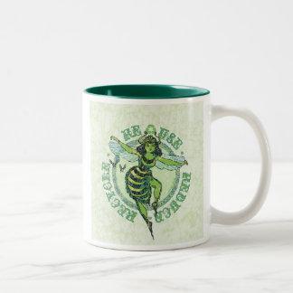 Enviro Green Bee Earth Day Gear Two-Tone Coffee Mug