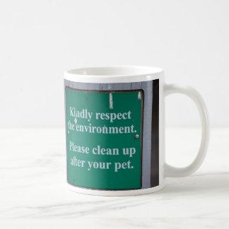 Enviromental sign coffee mug
