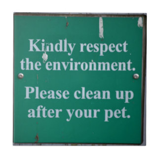 Enviromental sign tile