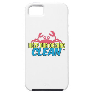 Environment Keep Our Oceans Clean Slogan iPhone SE/5/5s Case