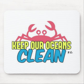Environment Keep Our Oceans Clean Slogan Mouse Pad