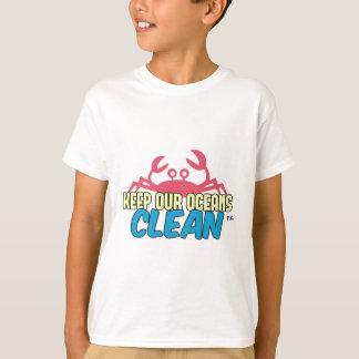 Environment Keep Our Oceans Clean Slogan T-Shirt