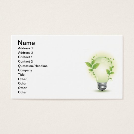 Environment Lightbulb3 Business Card