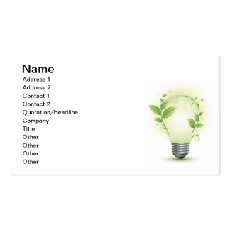 Environment Lightbulb3 Double-Sided Standard Business Cards (Pack Of 100)