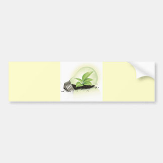 Environment Lightbulb greens plants soil causes en Bumper Stickers