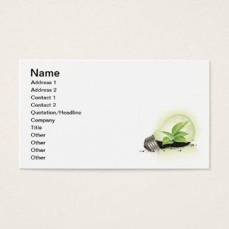Environment Lightbulb greens plants soil causes en Business Card
