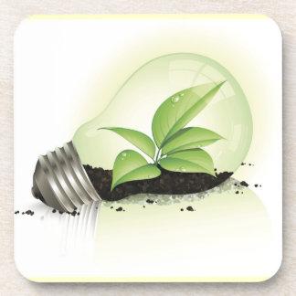 Environment Lightbulb greens plants soil causes en Drink Coaster