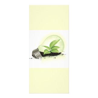 Environment Lightbulb greens plants soil causes en Personalized Rack Card