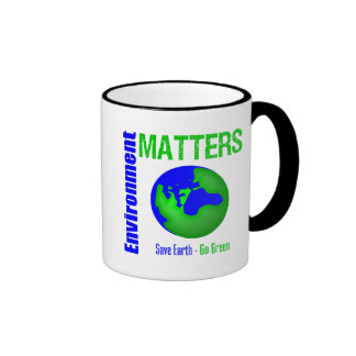 Environment Matters Save Earth Go Green Ringer Mug