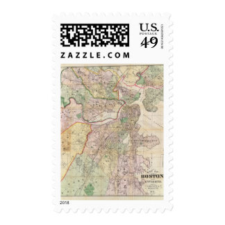 Environment of Boston Postage Stamp