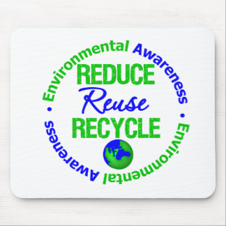 Environment Reduce Reuse Recycle Mouse Pad
