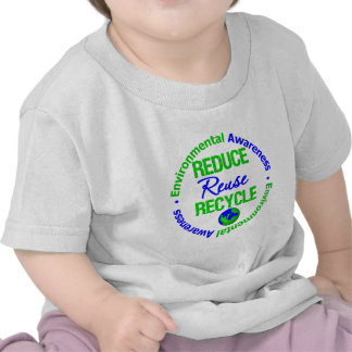 Environment Reduce Reuse Recycle Tee Shirts