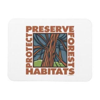 Environment, Wildlife Habitats Rectangular Photo Magnet