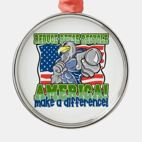 Environmental America Metal Ornament