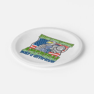 Environmental America Paper Plate