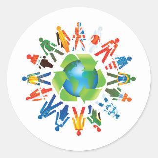 Environmental Awareness Classic Round Sticker