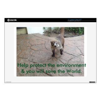 """Environmental Awareness - Coatimundi 15"""" Laptop Skins"""
