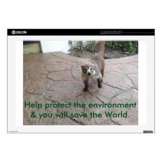 "Environmental Awareness - Coatimundi 17"" Laptop Skin"