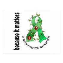 Environmental Awareness Flower Ribbon 3 Postcard