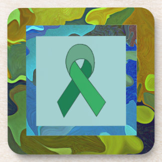 environmental awareness ribbon coaster