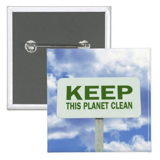 Environmental Awarness Button