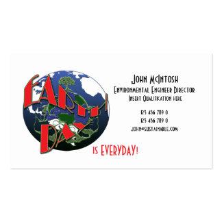 Environmental business card templates - customize