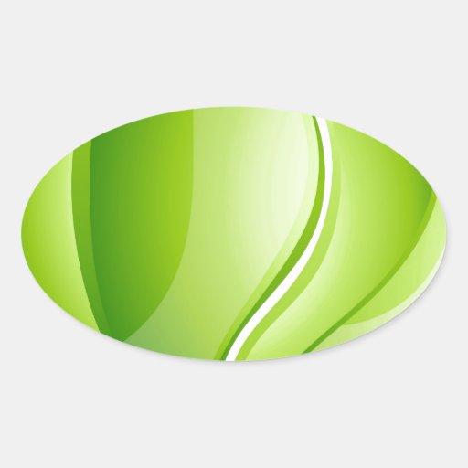 Environmental charity love leaf heart oval sticker